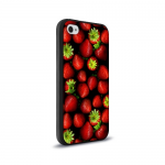 Кейс силикон.New case для Apple iPhone 4 арт.59192 клубничка