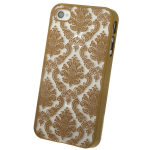 Кейс ультратонкий Activ Decor-01 для Apple iPhone 4 (gold)