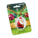 Флеш-накопитель USB  8GB  Smart Buy  NY series  Santa-S