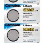 Батарейка Camelion CR2025-5BL, 3В, Li, (5/50/1800)