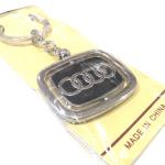 Брелок Audi квадратный, металлический, черный