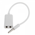 Переходник для наушников iPhone/iPod/iPad 3,5мм.на 2 разъема 3,5 мм (европакет)