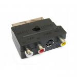 Переходник SCART - 3 RCA + S Video (вход-выход) JETT (303-353)