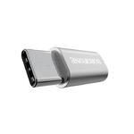 Переходник Type-C - микро USB(f) Borofone BV4, плоский, алюминий, цвет: серебряный