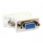 Переходник DVI - SVGA SmartBuy A123, 0.1м, плоский, пластик, цвет: белый