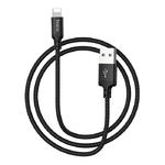 Кабель USB - 8 pin HOCO X14 Times speed, 1.0м, круглый, 2.4A, ткань, цвет: чёрный