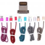 USB-Lightning дата кабель магнитный для iPhone, арт.009280 (Серебристый)