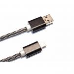 USB Кабель Lightning прозрачная изоляция 1 метр (черный)