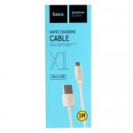 Кабель USB - микро USB HOCO X1, 1.0м, цвет: белый