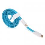 Кабель USB - микро USB OltraMax OM-K-00081, 1.0м, плоский, магнитный, цвет: синий