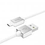 Кабель USB - микро USB HOCO U49 Refined, 1.2м, круглый, 2.4A, силикон, цвет: белый