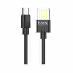 USB Kабель MicroUsb HOCO U55 Outstanding charging data cable 1 метр (черный)