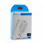 Блок питания сетевой 1 USB GEnergy, EH-16, 1500mA, пластик, кабель микро USB, цвет: белый