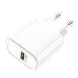 Блок питания сетевой 1 USB HOCO, C69A, Dynamic Power, 5000mA, пластик, QC3.0, цвет: белый