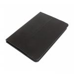 Чехол универсальный для планшетов 10-11 дюймов под кожу, пластиковый крепеж+резинка, черный