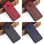 Чехол с карманом под пласт карты для Huawei Honor 7A Pro/Y6 Prime (2018), арт.010459 (Красный)