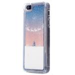 Чехол-накладка - плавающий снег для Apple iPhone 5 (003) арт.62837