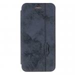 Чехол-книжка Armor Case Book для APPLE iPhone 5/5S/SE, под кожу, с силиконовым креплением, синий