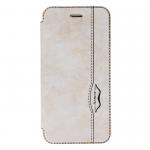 Чехол-книжка Armor Case Book для APPLE iPhone 5/5S/SE, под кожу, с силиконовым креплением, белый