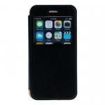 Чехол-книжка Armor Case Book для APPLE iPhone 5/5S/SE, с окном, цвет: чёрный, в техпаке