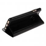 Чехол-книжка Nosson для APPLE iPhone 5/5S/SE, с силиконовым основанием, цвет: чёрный