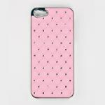 Защитная крышка для iPhone 5/5s/SE ромб со стразами (хром/розовая)