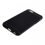Чехол силиконовый для APPLE iPhone 5/5S/SE, тонкий, непрозрачный, матовый, чёрный, с полосой