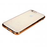 Чехол силиконовый для APPLE iPhone 5/5S/SE, ультратонкий, прозрачный, глянцевый, с золотым ободком