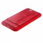 Чехол силиконовый для APPLE iPhone 5/5S/SE, ультратонкий, матовый, красный, с карманом для визитки