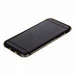 Бампер для Shengo iPhone 6/6S (4.7)  металлический со стразами (чёрный)