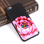 Чехол ТПУ Цветы для iPhone 6 Plus, арт.010076