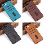 Чехол с карманом под пластиковые карты для iPhone 7 Plus, арт.010456 (Черный)