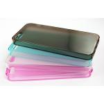 Силиконовый чехол для iPhone 5/5s/SE TPU Case (черный прозрачный)