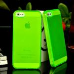 Бампер резиновый для Apple iPhone 5 арт.002203-01 (салатовый)