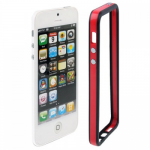 Бампер для iPhone 5/5S, (красный/черный)