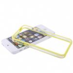 Бампер для iPhone 5/5S, (с желтой вставкой)