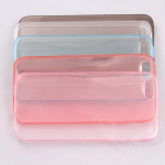 Ультратонкий силикон. чехол для iPhone 4 арт.007088 (голубой)