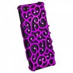 Крышка для iPhone 5 розовая со стразами завитки в техпаке