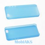 Защитная крышка для iPhone 5 ультратонкая (голубой матовый)европакет