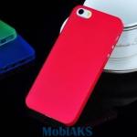 Защитная крышка для iPhone 5 ультратонкая (красный матовый)европакет