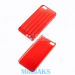 Защитная крышка для iPhone 5/5s/SE ультратонкая с полосками (красный)
