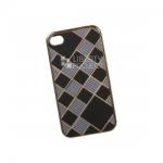 Силиконовый Чехол для iPhone 4/4S TPU Клетка с полосками (золотой)