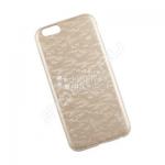 Защитная крышка для iPhone 6 тонкий PU текстура клетка (золотая)