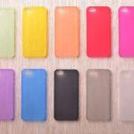Чехол силикон.для Аpple iPhone 6 матовый красный в техпаке