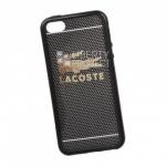 Силиконовый чехол для iPhone 5/5s/SE TPU Золотой Lacoste (черный)