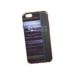 Силиконовый чехол для iPhone 6/6S TPU Кожа и краски (золотой)