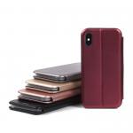 Чехол-книжка для iPhone X, арт.009805 (Бордовый)