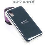Панель Soft Touch для iPhone X/XS, арт. 007001 (Темно-зеленый)