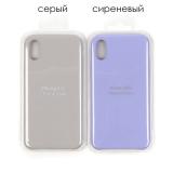 Панель Soft Touch для iPhone X/XS, арт. 007001 (Серый)