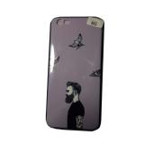 Силиконовый чехол Iphone 6G, черный борт, человек и птицы, фиолетовый